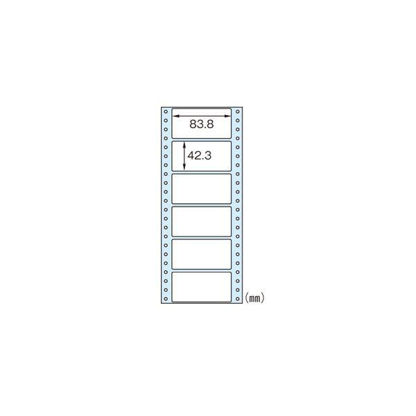 便利 日用品 (業務用セット) タックシール GB354 100シート 600片入 【×2セット】