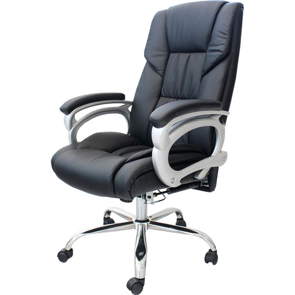 インテリア・家具 リクライニングチェア(オフィスチェアー/パソコンチェア) Emblem 昇降式 角度高さ調節可 キャスター/肘付き