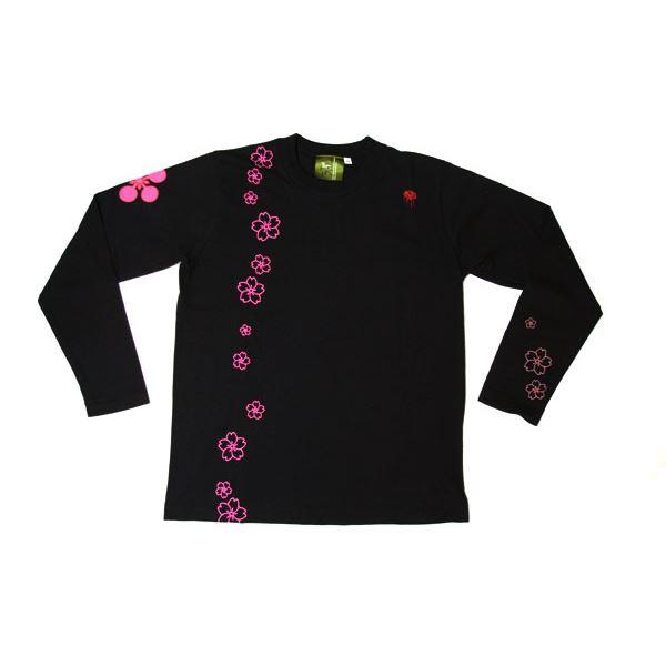 メンズファッション トップス Tシャツ・カットソー 関連 傾奇者・前田慶次 長Tシャツ 楽 S 黒