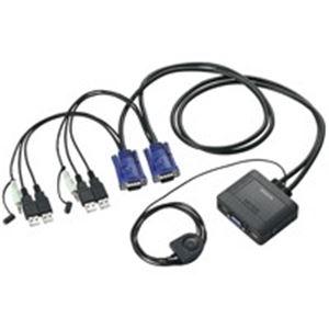 パソコン・周辺機器 (業務用5セット) エレコム(ELECOM) パソコン切替器/KVM-KUS ブラック 【×5セット】