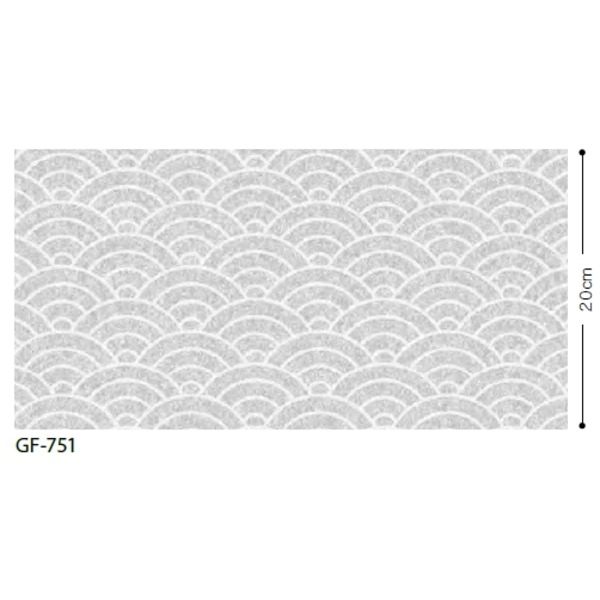 おしゃれな家具 関連商品 和 青海波 飛散防止ガラスフィルム GF-751 92cm巾 3m巻