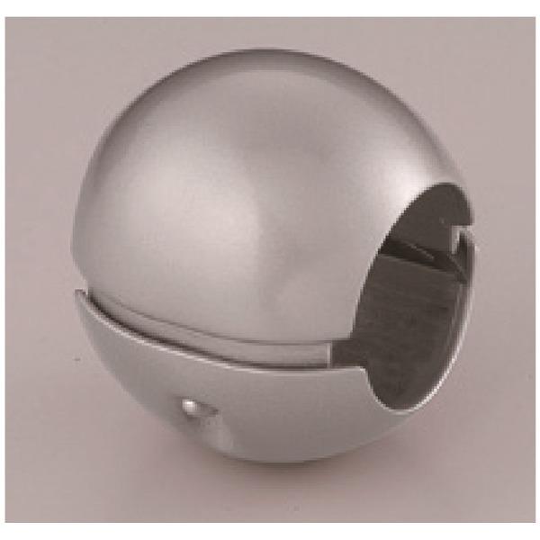 インテリア・家具 【5個セット】階段手すり滑り止め 『どこでもグリップ』ボール形 亜鉛合金 直径38mm シルバー シロクマ 日本製