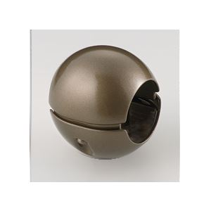 インテリア・家具 【5個セット】階段手すり滑り止め 『どこでもグリップ』ボール形 亜鉛合金 直径38mm アンバー シロクマ 日本製