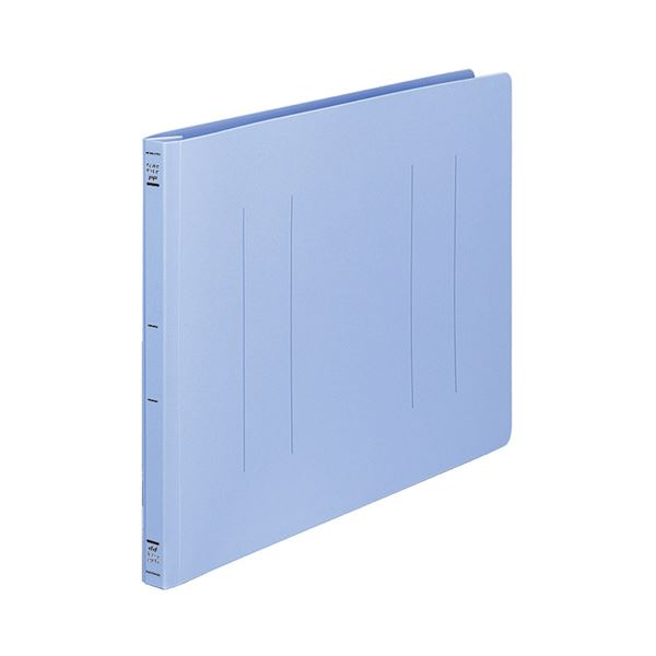 (まとめ) コクヨ フラットファイル(PP) B4ヨコ 150枚収容 背幅20mm 青 フ-H19B 1セット(10冊) 【×2セット】