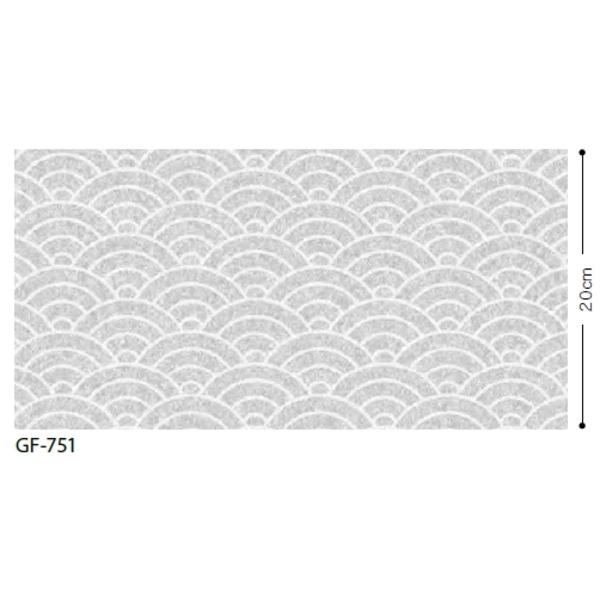 おしゃれな家具 関連商品 和 青海波 飛散防止ガラスフィルム GF-751 92cm巾 6m巻