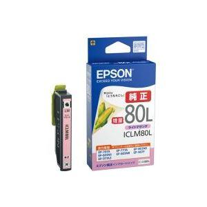 パソコン・周辺機器 (業務用40セット) エプソン EPSON インクカートリッジ ICLM80Lライトマゼンダ 【×40セット】