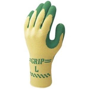 日用雑貨 (業務用40セット) ショーワ 手袋グリップソフト 5双 パックグリーン L 【×40セット】