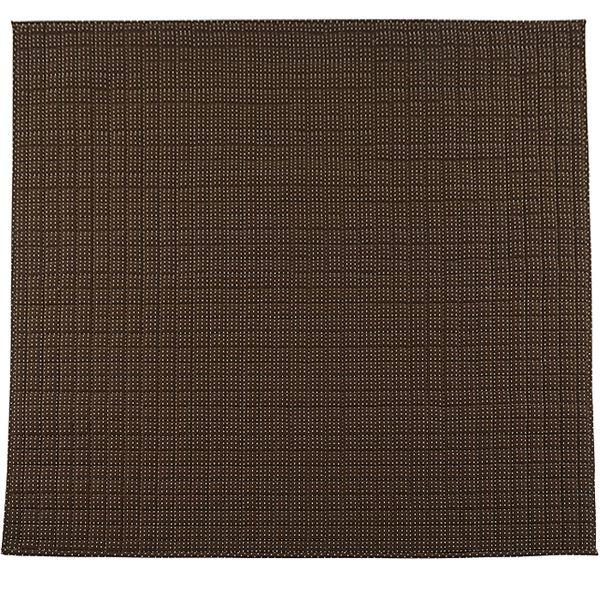 ラグマット関連 さわやかキルトラグマット/絨毯 【ブラウン 約130cm×185cm】 洗える 綿100% 防滑 『グロワール』 〔リビング〕