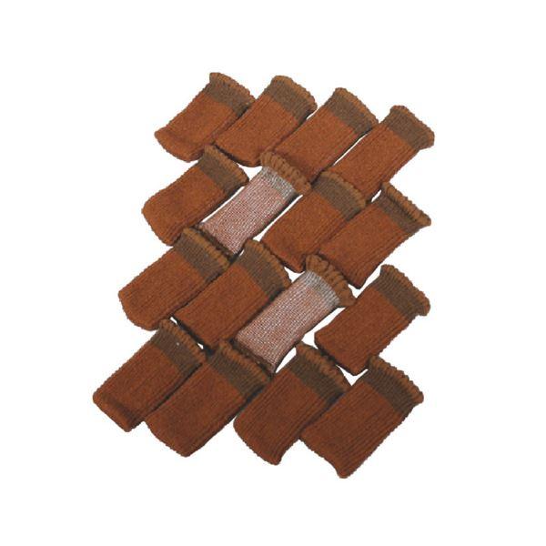 生活 雑貨 通販 (まとめ) ノムラテック 床のキズ防止カバー 4脚分(椅子用) 808016 【×5セット】