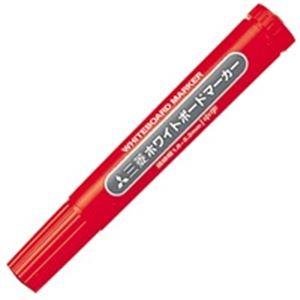 生活用品・インテリア・雑貨 (業務用300セット) 三菱鉛筆 ホワイトボードマーカー PWB4M15 中字赤 【×300セット】
