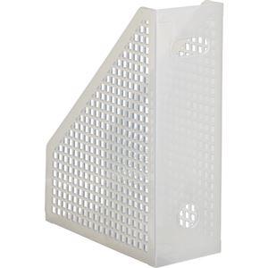 文具・オフィス用品 (まとめ) TANOSEE メッシュボックス A4タテ 背幅103mm クリア 1個 【×15セット】