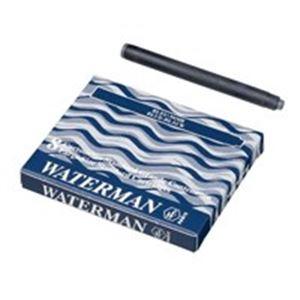 生活用品・インテリア・雑貨 (業務用50セット) ウォーターマンカートリッジ 青黒 8個 【×50セット】