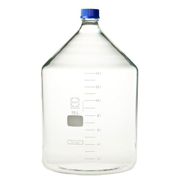生活用品関連 ねじ口びん(メジュームびん) 青キャップ付 15L 017200-15000