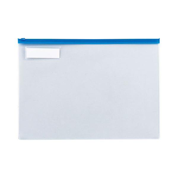 ファイル・バインダー クリアケース・クリアファイル 関連 (まとめ) TANOSEE クリヤーケース(クリアケース) B4ヨコ 青 1セット(20枚) 【×2セット】