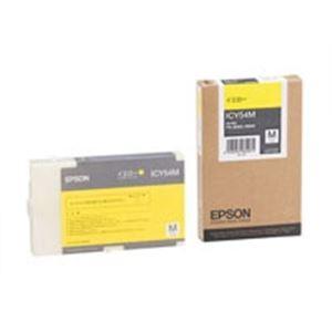 パソコン・周辺機器 (業務用5セット) EPSON(エプソン) IJインクカートリッジ ICY54M イエロー 【×5セット】
