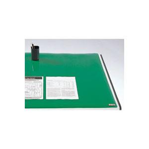 文房具・事務用品 机上収納・整理用品 デスクマット 関連 クラウン デスクマット スカイメルト コピーレス ダブル CR-CW127-G