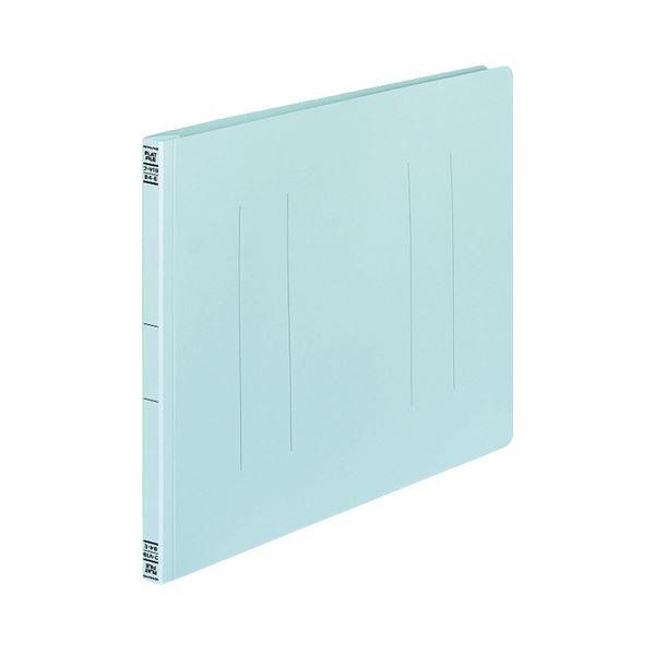 文具・オフィス用品 (まとめ) コクヨ フラットファイルV(樹脂製とじ具) B4ヨコ 150枚収容 背幅18mm 青 フ-V19B 1パック(10冊) 【×5セット】