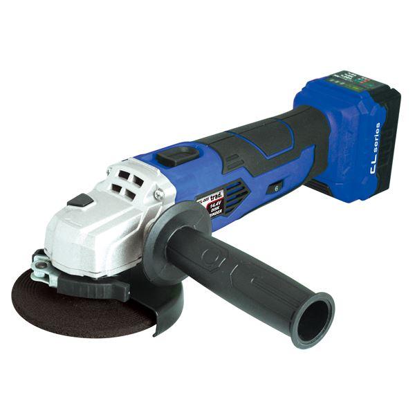 DIY・工具 (業務用5個セット) trad 充電式ディスクグラインダー(面取り/バリ取り) TCL-005 14.4V ブルー