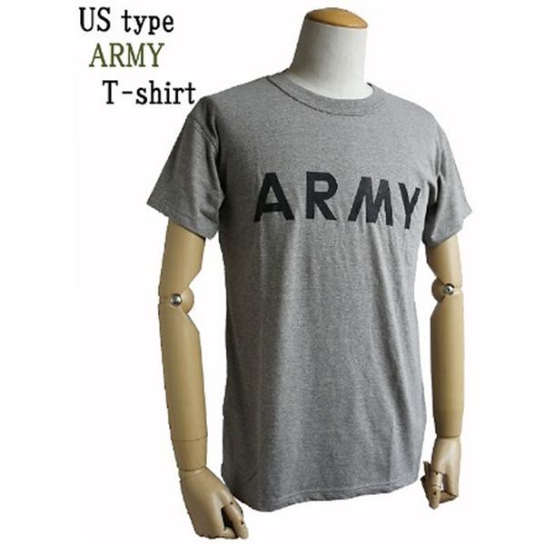 生活日用品 USタイプARMY杢グレーTシャツ L