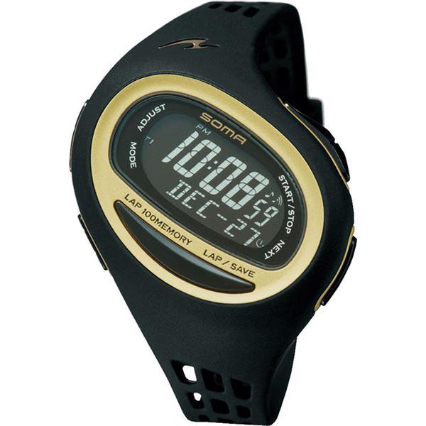 100SL MEDIUM SIZE(ランワン 100SL ミディアムサイズ) ブラック×ゴールド NS09006