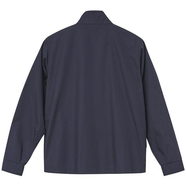トップス関連商品 テカリを抑えた綿混・撥水加工、防風加工、裏地付スウィンブトップジャケット ネイビー M