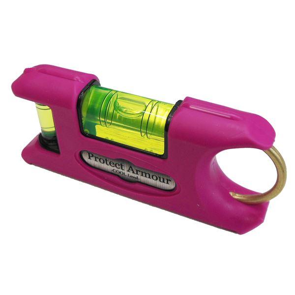 DIY・工具 手動工具 関連 (業務用10個セット) KOD プロテクトアーマー水平器/レベル 【ピンク】 一体型成型 PAS-HI