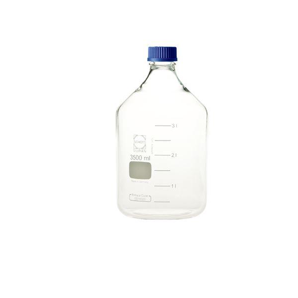 生活用品関連 ねじ口びん(メジュームびん) 青キャップ付 3.5L 017200-3500