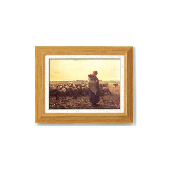 【世界の名画】 複製画 絵画額 ■ミレー名画額F4「落穂拾い」