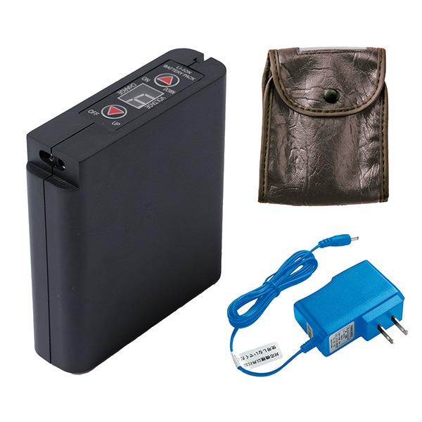スポーツ・レジャー 関連商品 空調服 大容量リチウムイオンバッテリーセット (本体/ACアダプター/ケース) 6500mAh LIULTRA I