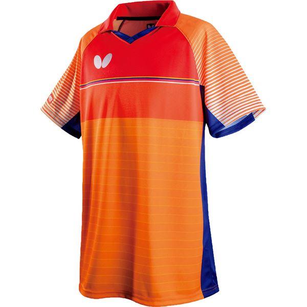 スポーツ用品・スポーツウェア関連商品 卓球アパレル BRIGHTARM SHIRT(ブライトアーム・シャツ) 45280 オレンジ SS