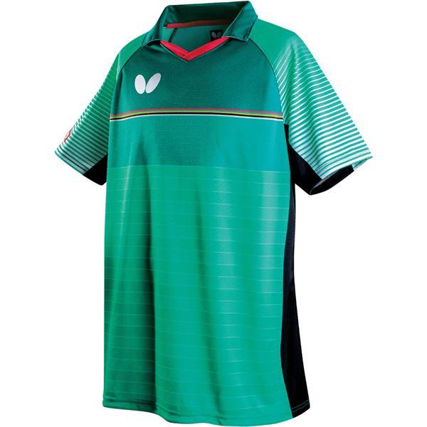 スポーツ用品・スポーツウェア関連商品 卓球アパレル BRIGHTARM SHIRT(ブライトアーム・シャツ) 45280 グリーン 3S