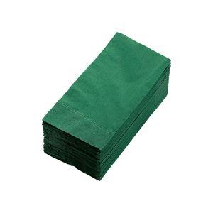 キッチン・食器 (まとめ) カラーナプキン 2PLY 8つ折 イタリアグリーン 2PLU-28C-G 1パック(50枚) 【×10セット】
