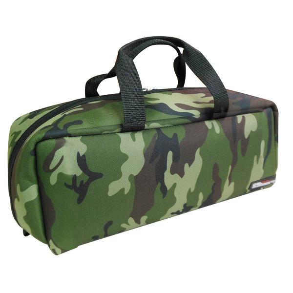 スポーツ・レジャー (業務用20個セット)DBLTACT トレジャーボックス(作業バッグ/手提げ鞄) Mサイズ 自立型/軽量 DTQ-M-CA 迷彩 〔収納用具〕