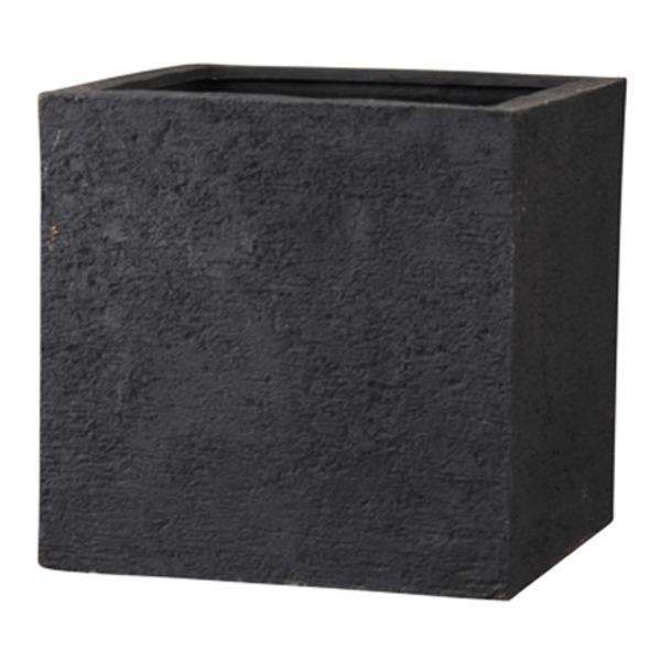 ガーデニング・農業 植木鉢・プランター プランター 関連 新素材ポリストーンライト リガンデ キューブ 60cm ブラック /樹脂製植木鉢