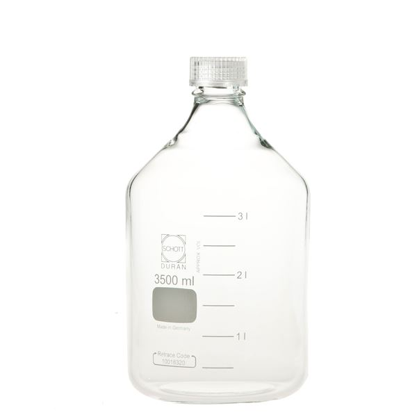生活用品関連 ねじ口びん(メジュームびん) 透明キャップ付 3.5L 017200-35003