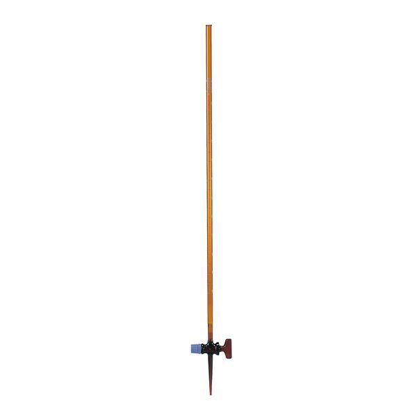 ビュレット スーパーグレード 茶褐色 ガラスコック付 50mL