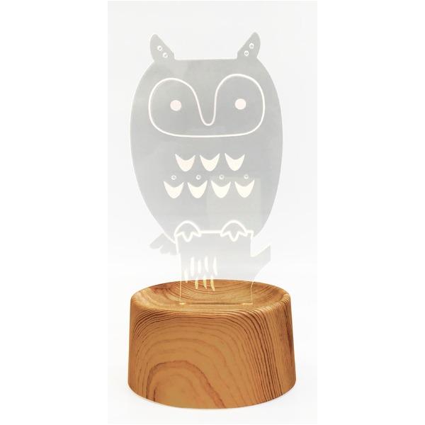 生活 雑貨 通販 【3個セット】 アクセサリースタンド/メガネ置き 【owl】 音感センサー内蔵 『acrysta-las-』
