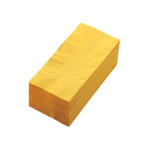 キッチン・食器 (まとめ) カラーナプキン 2PLY 8つ折 レモン 2PLU-28-L 1パック(50枚) 【×10セット】