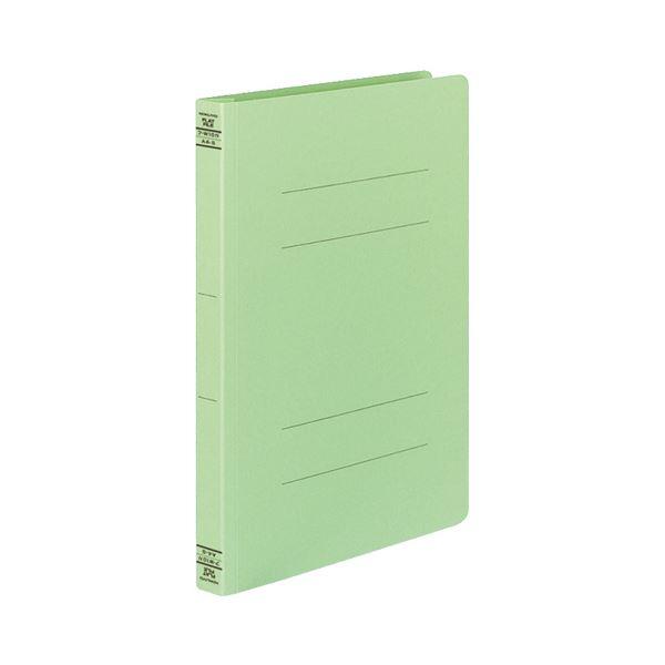 (まとめ) コクヨ フラットファイルW(厚とじ) A4タテ 250枚収容 背幅28mm 緑 フ-W10G 1パック(10冊) 【×5セット】