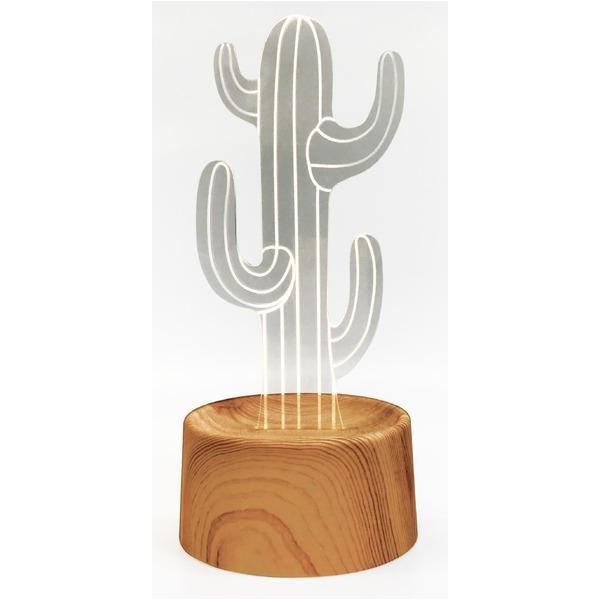生活 雑貨 通販 【3個セット】 アクセサリースタンド/メガネ置き 【cactus】 音感センサー内蔵 『acrysta-las-』