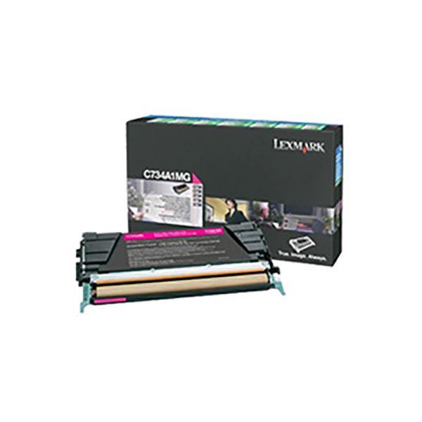 パソコン・周辺機器 PCサプライ・消耗品 インクカートリッジ 関連 【純正品】 LEXMARK C734A1MG RPトナー マゼンタ6K