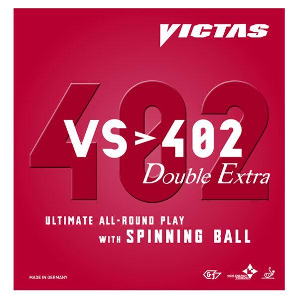 卓球ラケット用ラバー 関連商品 ヤマト卓球 VICTAS(ヴィクタス) 裏ソフトラバー VS>402 ダブルエキストラ 020401 ブラック 1.8