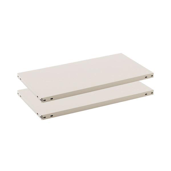 (まとめ) ライオン事務器 軽量物品棚 上下棚板セット W875×D450mm LE-J0945 1セット(2枚:上下各1枚) 【×2セット】