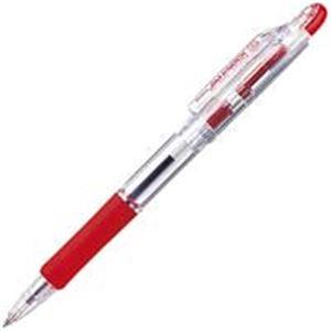 生活用品・インテリア・雑貨 (業務用50セット) ゼブラ ZEBRA ボールペン ジムノック KRB-100-R 赤 10本 【×50セット】