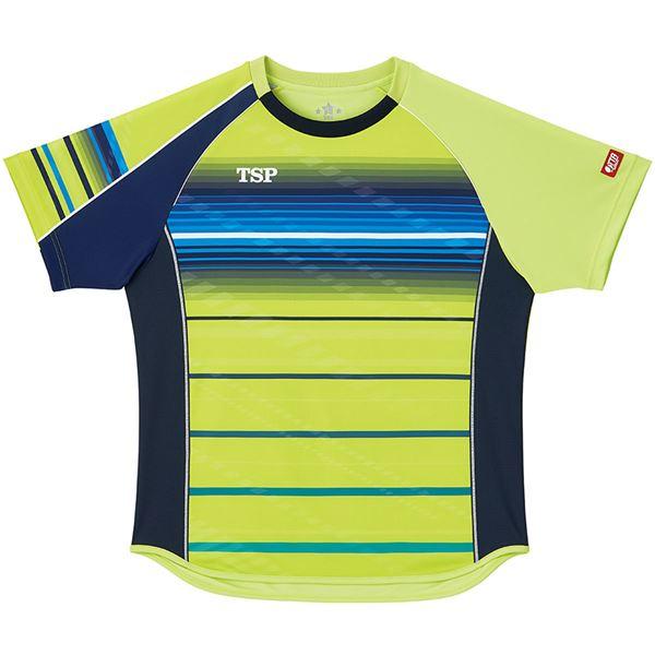 スポーツ用品・スポーツウェア 卓球用品 関連 卓球アパレル ゲームシャツ クラールシャツ 男女兼用 031428 ライム 3XL