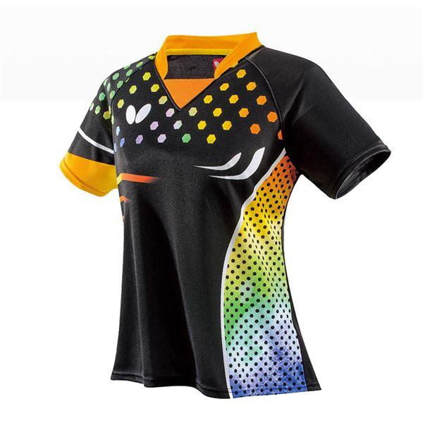 スポーツ用品・スポーツウェア 卓球用品 関連 卓球アパレル PATNARL SHIRT LADIES(パトナール・シャツ・レディース) 45479 オレンジ O