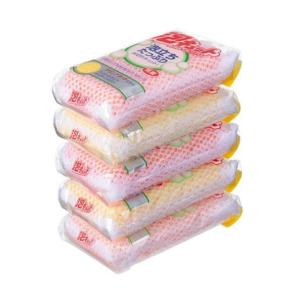 日用雑貨 (まとめ) オーエ 泡キュット ネットタイプ 1パック(5個) 【×10セット】