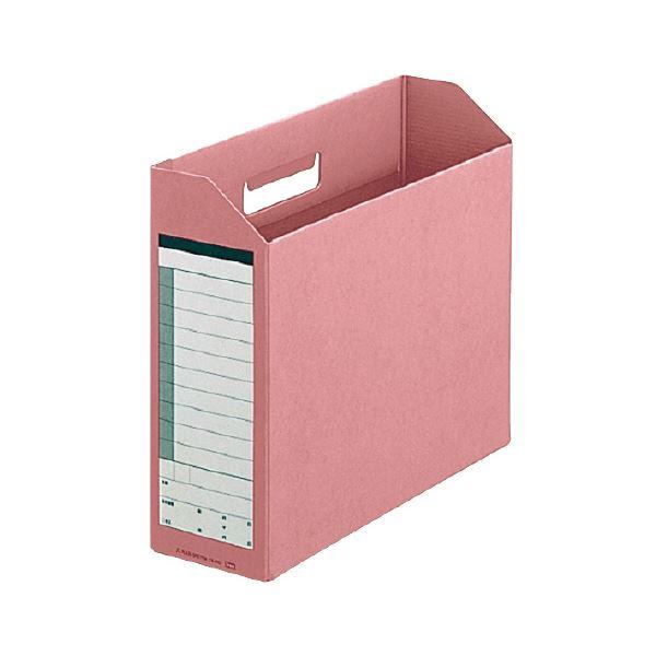 収納用品 マガジンボックス・ファイルボックス 関連 (まとめ)ダンボックス A4ヨコ背幅100mm ピンク BF10-A4-100 1セット(10冊) 【×3セット】
