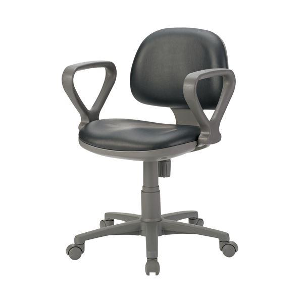 オフィス家具 オフィスチェア 高機能チェア 関連 事務イス FT-3PLA ブラック 肘付