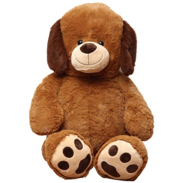 【8個セット】子供用 ぬいぐるみ/人形 【犬型 ブラウン】 幅45cm 〔おもちゃ 子ども部屋〕【代引不可】